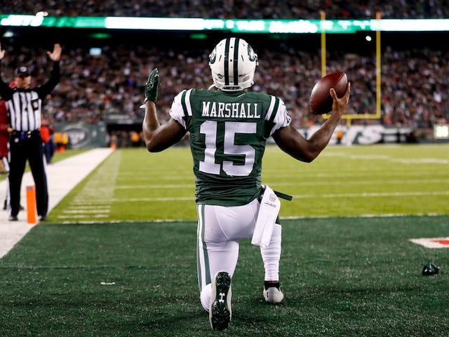 Brandon Marshall sammenligner jets 'sæson at bære en beskidt bleie i et år