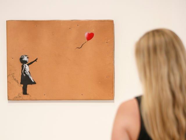 """Banksy a piégé une de ses peintures pour """"s'autodétruire"""" aux enchères, et c'est plutôt drôle"""