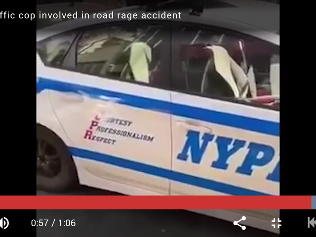 The NYPD has a unique way of dealing with inconsiderate motorists