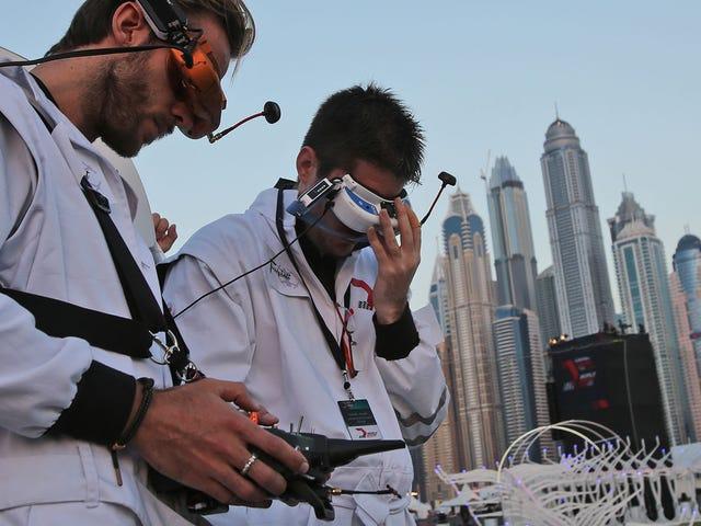 """Tonåring vinner Dubai World Drone Prix som land tillkännager """"World Future Sports"""" -spel"""