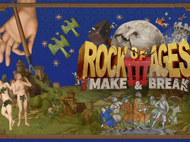 Silly boulder-rolling racing defense game Rock of Ages is getting a threequel
