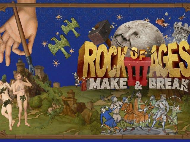 Silly boulder-rolling racing defense game Rock of Ages ay nakakakuha ng isang threequel