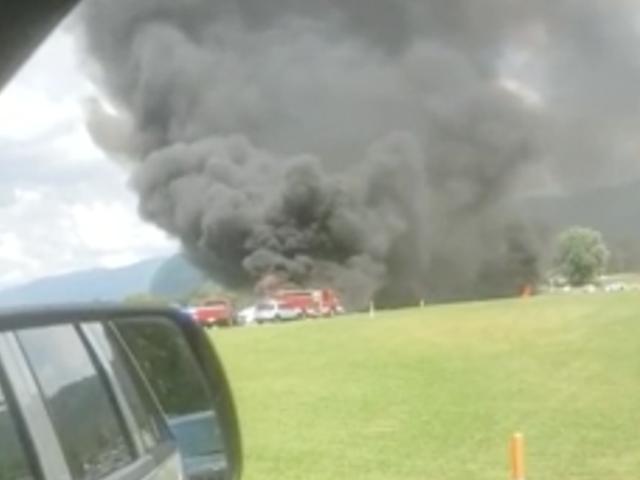 Dale Earnhardt Jr. ins Krankenhaus gebracht, nachdem sein Flugzeug von der Landebahn gerutscht ist, fängt Feuer: Berichte