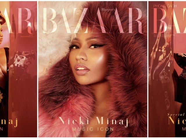 Non è iconico?  Nicki Minaj Covers Bazaar Vietnam's 'Music Icon'