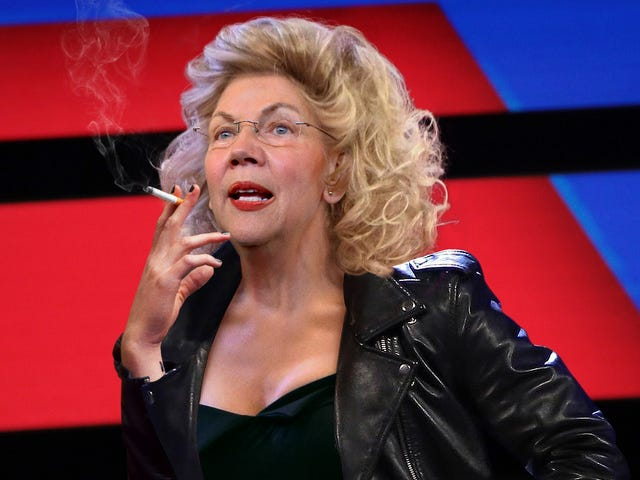 'Tell Me About It, Stud,' Says Pleather-Clad Elizabeth Warren On Debate Stage In Effort To Court Bad Boy Demographic