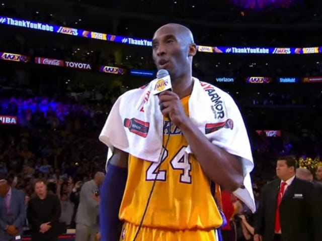 Kobe Bryant's 'Mamba Out' Towel Just Sold for Over $30,000
