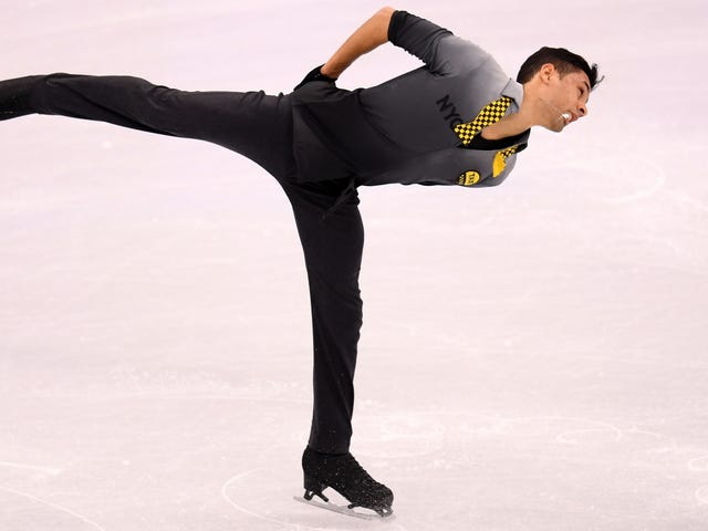 "French Figure Skater Performs Short Program To ""Rapper's Delight"""