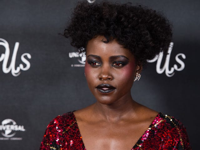 Just When We Thought Us Couldn't Get Any Eerier, Lupita Nyong'o Rocked Red Eyes at the UK Premiere