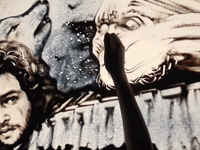 Sand Animation Video betaler en flytende hyllest til <i>Game of Thrones</i> Sesong 7