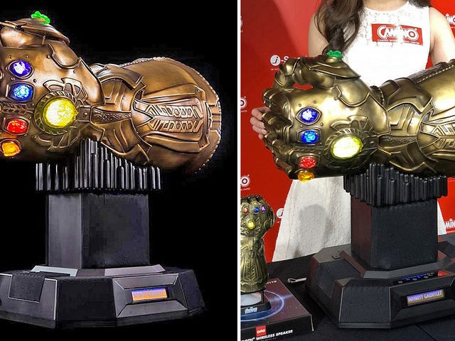 Your Playlist Will Rule the Universe With This $4,000, 53-Pound, Infinity Gauntlet Bluetooth Speaker