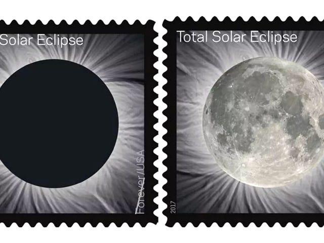 La Luna aparece mágicamente en el nuevo sello de Eclipse Solar Total de la Oficina Postal