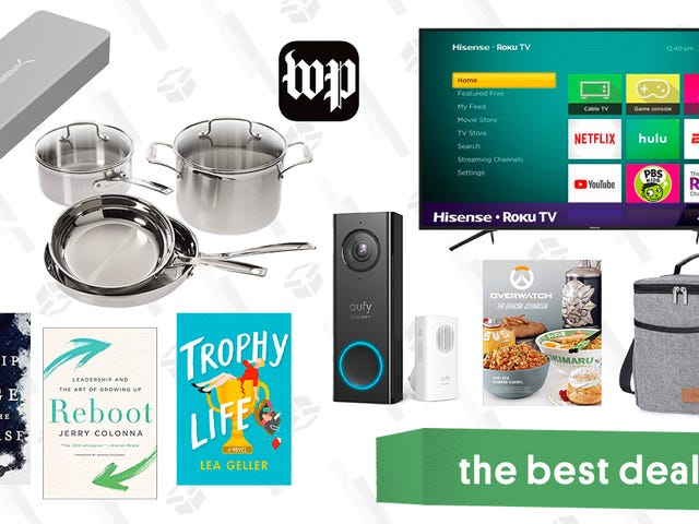 Sunday's Best Deals: Sabred NVMe Enclosure, Cuisinart Cookware, Kindle eBooks, and More