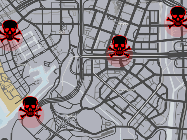 GTA Online Is Full Of Places Where You'll Automatically Die
