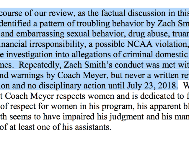 Here Are The Key Details From Ohio State's Investigation Of Urban Meyer