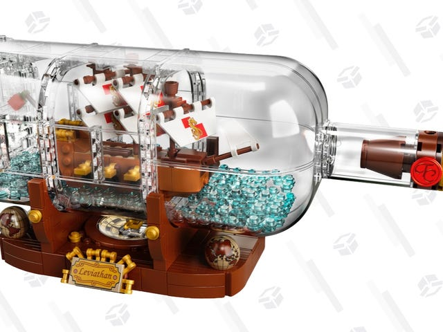 Ahoy, the Price of LEGO's Ship In a Bottle Is Sinking to the Briny Deep