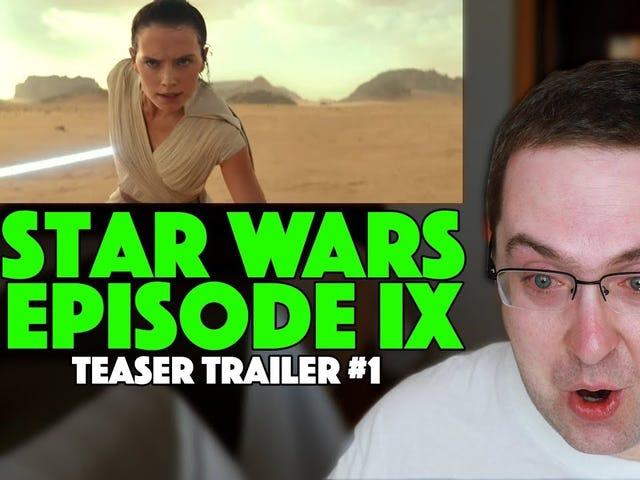 Ο άνθρωπος της περιοχής κάνει λάθος να γράφει τον εαυτό του ενώ παρακολουθεί νέα ρυμουλκούμενο Star Wars