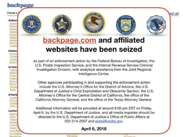 Backpage Has Been Seized by the FBI—Case Sealed by Judge [Updated]