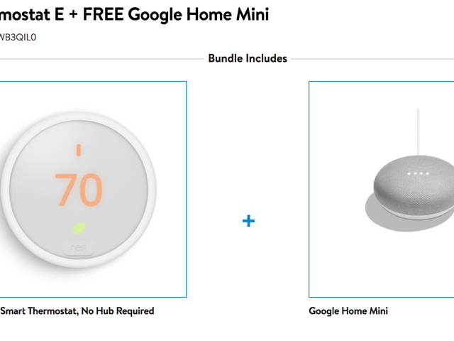 Save On a Nest Thermostat E, Plus a Free Google Home Mini
