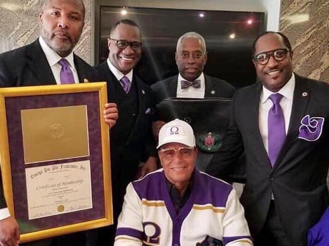 Louis Farrakhan Inducted Into Omega Psi Phi Fraternity