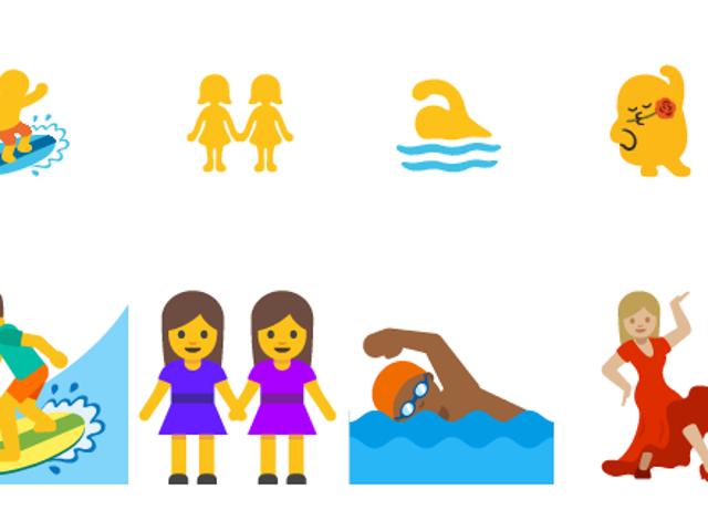Android için fin cambiará el espantoso diseño de sus emojis