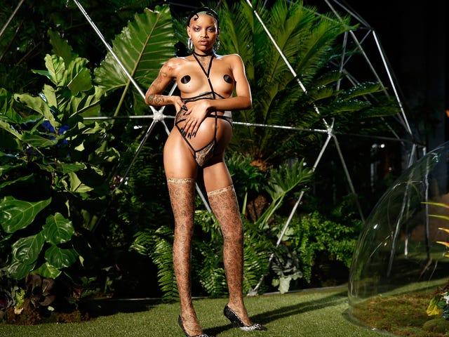Model Slick Woods Went Into Labor at Rihanna's Fashion Show After Walking Runway