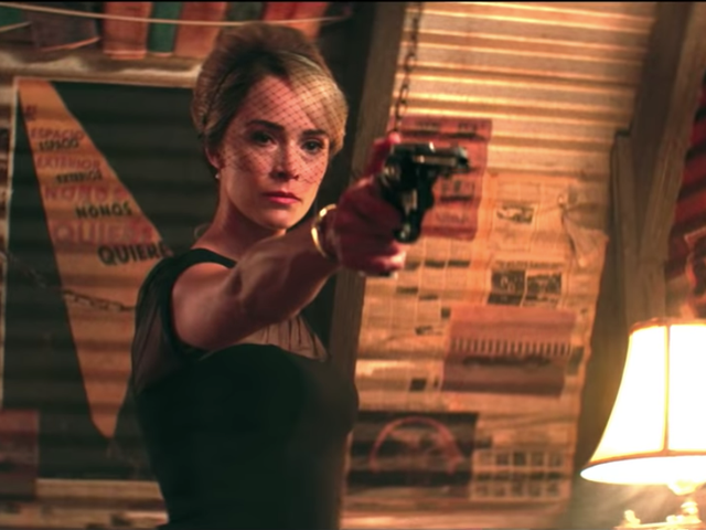 Abigail Spencer gets her gun in the first teaser for Hulu's neon-noir series Reprisal