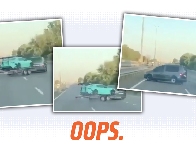Watching This Little Van Crash Carrying A Modified GT86 Is A Good Reminder That Towing Is Tricky