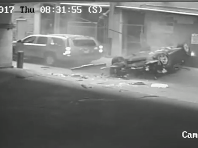 Here's Video Of That Car Falling Seven Stories Out Of A Parking Garage Last Month