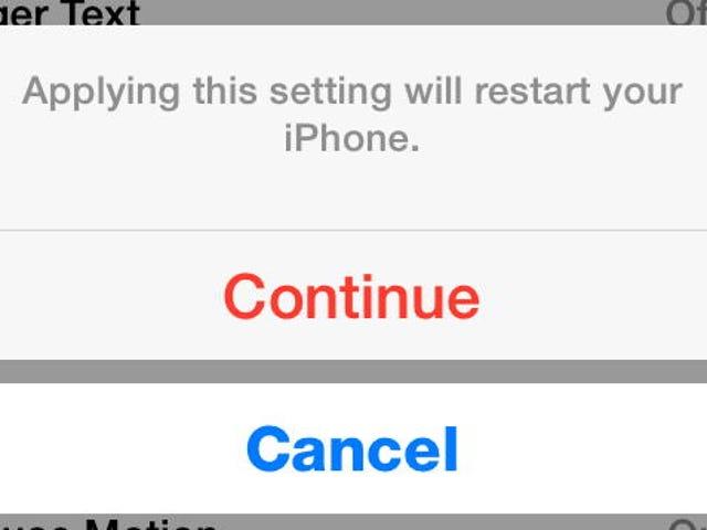 Επανεκκινήστε το iPhone χωρίς να αγγίξετε το κουμπί Αρχική ή το κουμπί λειτουργίας