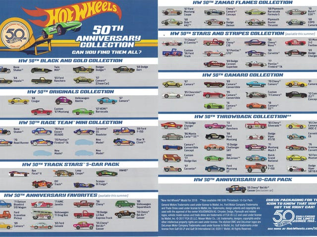 Hot Wheels 50th Anniversary Collection Mini-Poster