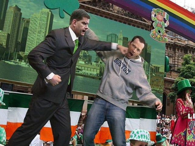 Boston Mayor Throws Out First Punch At St. Patrick's Day Parade