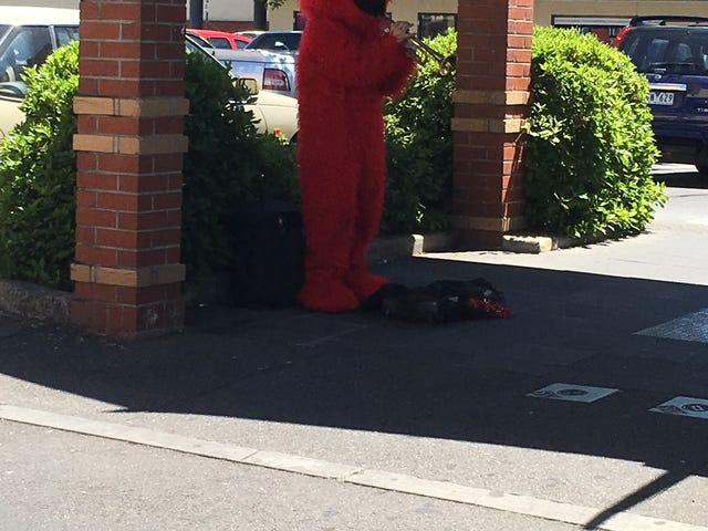 Nothing say Xmas more than a guy in an Elmo suit playing a trumpet poorly plus bonus RX8