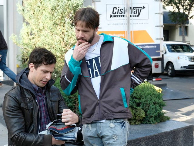 Jake and Charles get some Best Bud time as Ike Barinholtz swings by the Nine-Nine