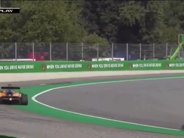 "Formula 3 Car Hits ""Sausage Kerb,"" Gets Launched Into The Air"