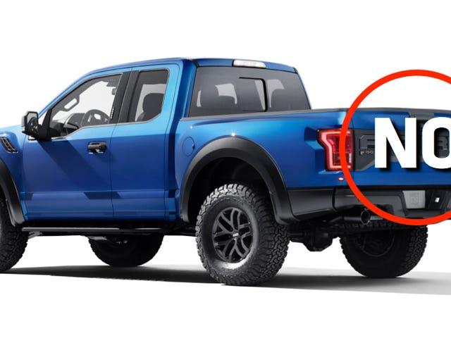 El nuevo Ford Raptor es genial y todo, pero ¿qué diablos es esto?