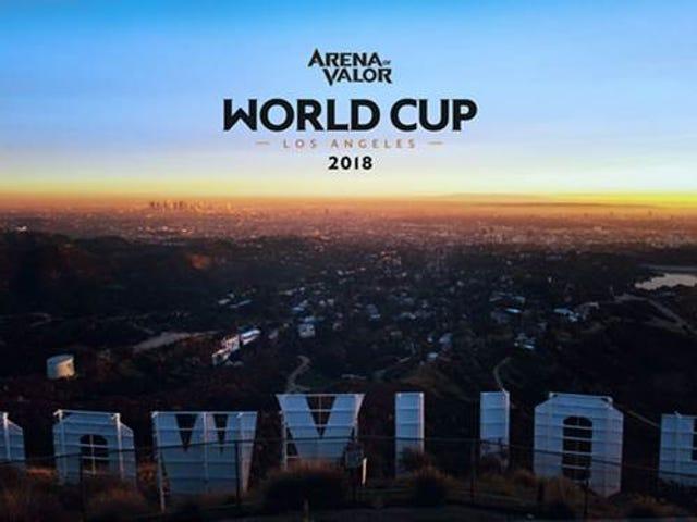 모바일 MOBA Aren을위한 상금 풀이 적어도 50 만 달러 인 월드컵 토너먼트가있을 것입니다.