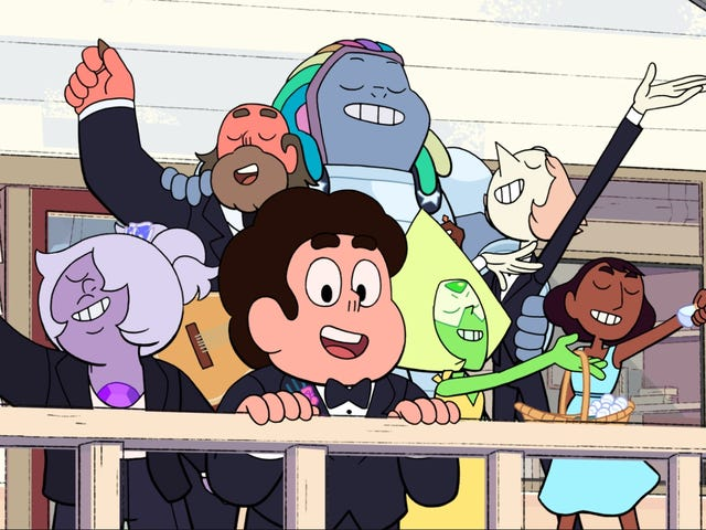 "It's time for a joyous wedding and a tense family reunion as Steven Universe is ""Reunited"""