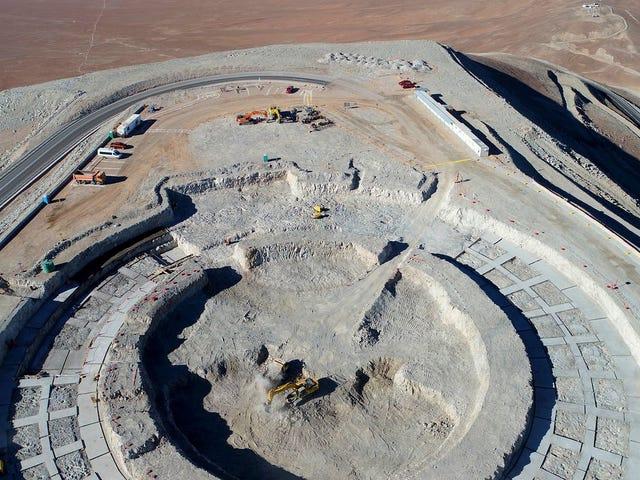 Los cimientos del Telescopio Extremadamente Grande dan una idea perfecta de por qué se llama así