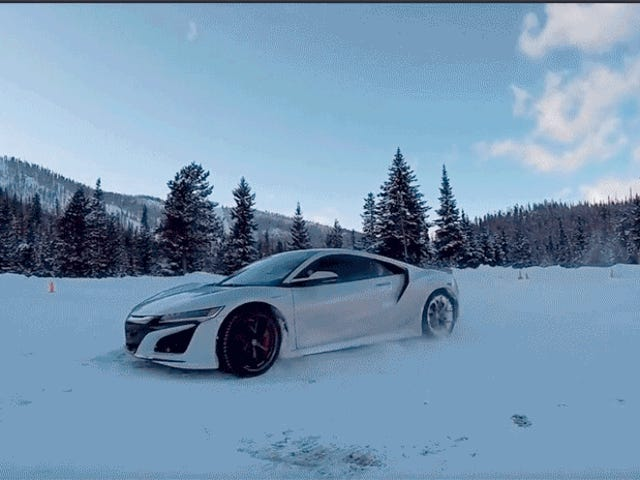 The New Acura NSX Is Also A High-Tech Snownut Machine