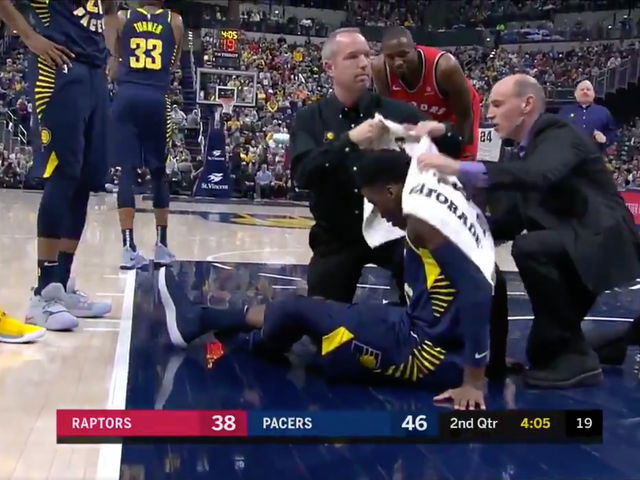 Victor Oladipo Exits On Stretcher After Going Down With Non-Contact Knee Injury