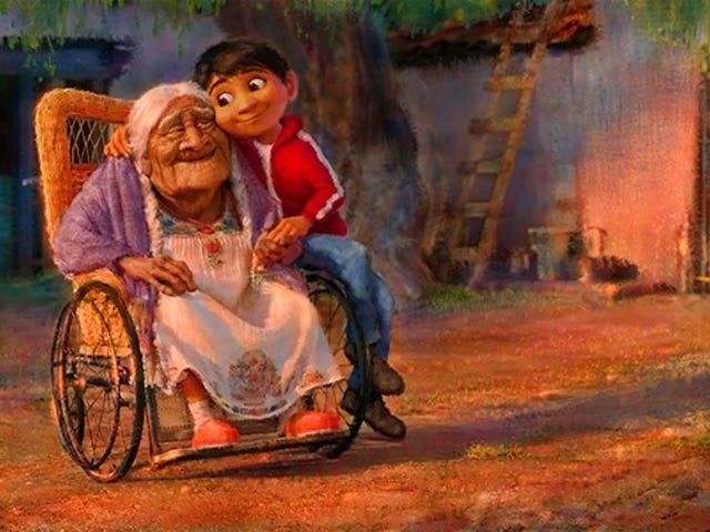 이국적인 문화의 산스크리트 라틴어와 라틴어로 번역 된 Pixar