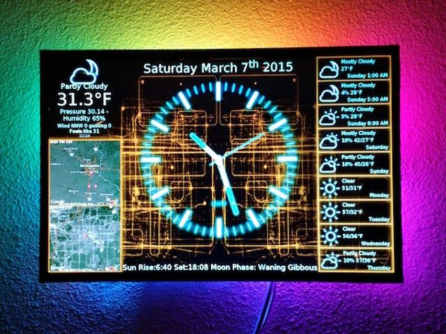 Utilisez un Raspberry Pi pour alimenter une horloge et un panneau d'affichage sophistiqués