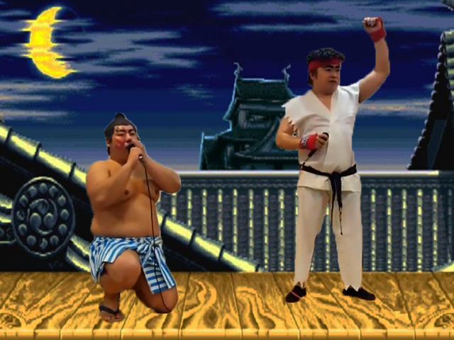Two Guys Reenact Street Fighter II Match With Their Mouths