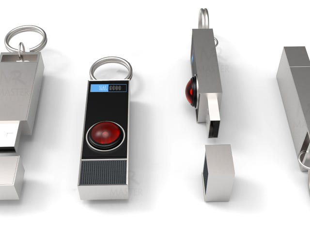 This Light-Up HAL 9000 USB Flash Drive Can't Sing, But Probably Won't Kill You Either