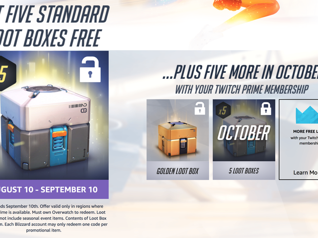 Amazon's Giving Prime Members FreeOverwatchLoot Boxes, Including a Legendary item