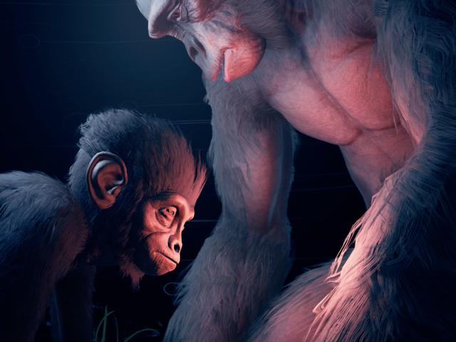 Είμαι γαντζώθηκε στους προγόνους, ένα σκληρό νέο παιχνίδι επιβίωσης για την ανθρώπινη εξέλιξη