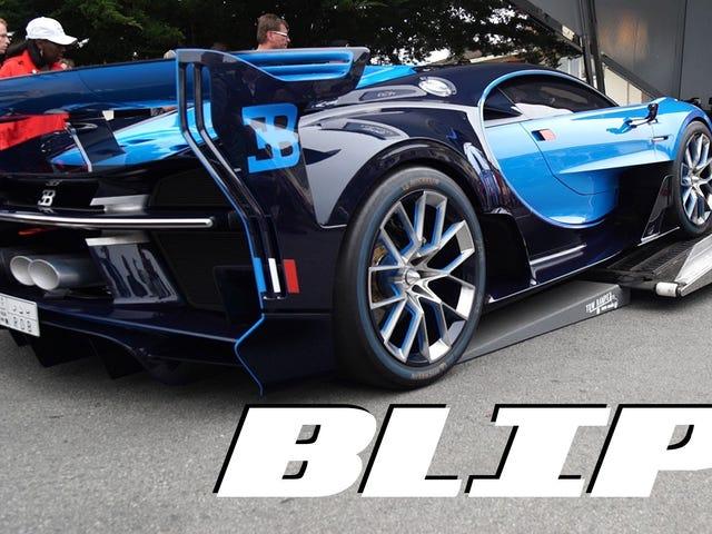 Bu Paha biçilmez Bugatti Konseptinin Bir Treyler Üzerine Yüklenmesinin İzlenmesi Tamamen Korkunç