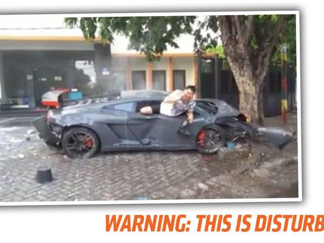 Grisly Video Of Fatal Lamborghini Street Racing Crash nous rappelle pas à la course de rue
