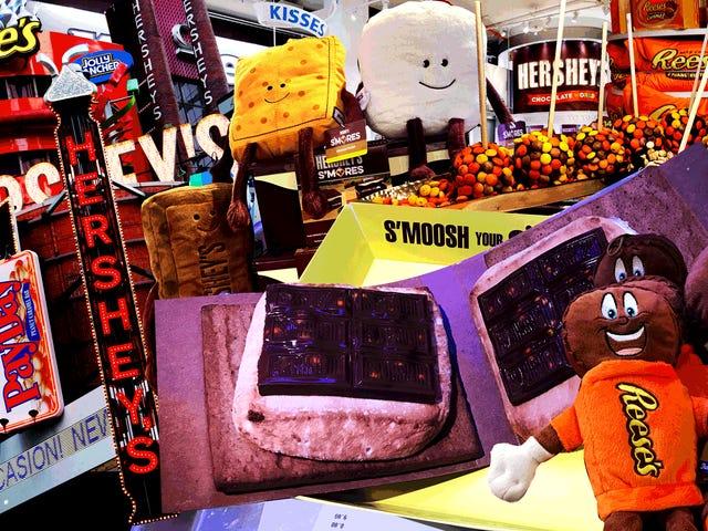 J'ai fait un voyage sans joie au magasin Hershey à Times Square puis à gauche de New York