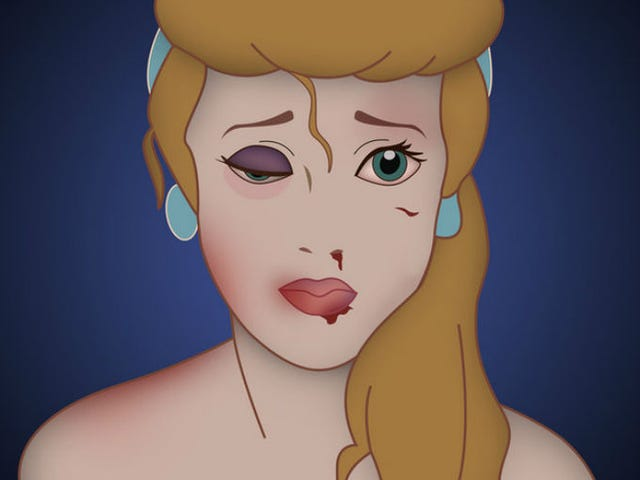 Artist Depicts Disney Princesses as Victims of Violent Domestic Abuse